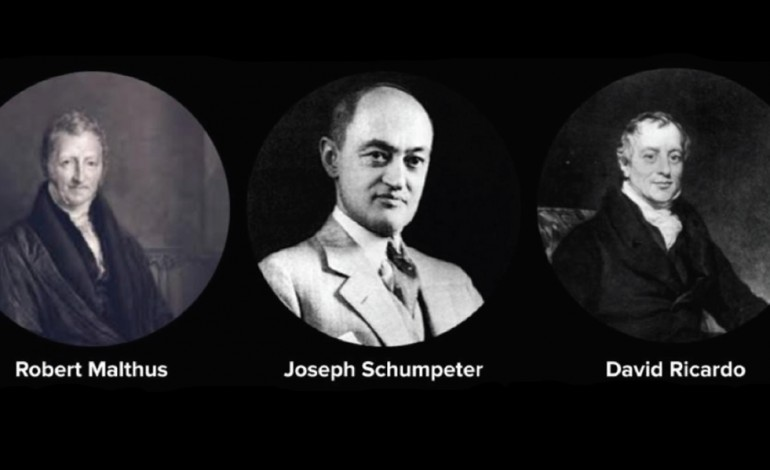 Talking with three dead economists
